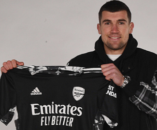 Brighton goalkeeper Mat Ryan has joined Arsenal on loan until the end of the season.