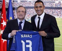 Real Madrid confirm signing of Costa Rica's goalkeeper Keylor Navas.