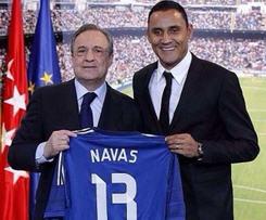 Real Madrid confirm signing of Costa Rica's goalkeeper Keylor Navas.