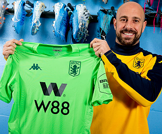 Aston Villa have confirmed the loan signing of AC Milan goalkeeper Pepe Reina until the end of the season.