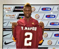 Newcastle United defender Mapou Yanga-Mbiwa has signed for Italian club Roma on a permanent deal for £5.5m.
