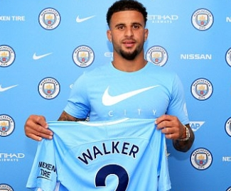Manchester City have confirmed the signing of Kyle Walker from Tottenham for an initial fee of £45m, plus £5m in add ons.