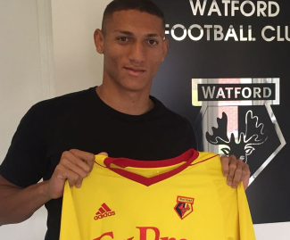 Watford have completed the signing of the Brazilian forward Richarlison from Fluminense for a fee of around £11.5m.