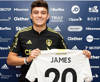 Leeds United have signed Daniel James on a permanent deal from Manchester United for £25m.