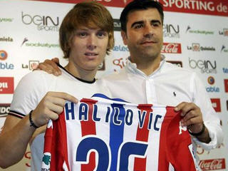 Barcelona's Croatian starlet Alen Halilovic has joined newly promoted La Liga rivals Sporting Gijon on a season-long loan.