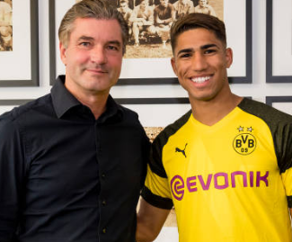 Borussia Dortmund have completed the signing of Morocco international Achraf Hakimi from Real Madrid on a two-year loan deal.