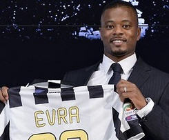Juventus sign Patrice Evra from Manchester United on two-year deal.