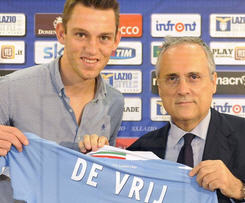 Lazio have announced the signing of Holland international centre-back Stefan de Vrij from Feyenoord.