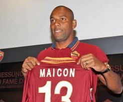 Manchester City defender Maicon has joined Roma on a permanent deal for a fee in the region of £3m.