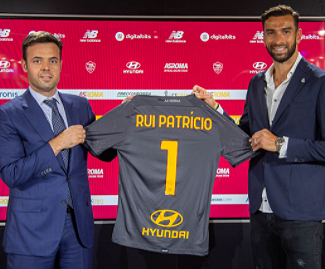 Rui Patrico comes to Roma on an €11.5 million move, signing a three-year deal with the club.