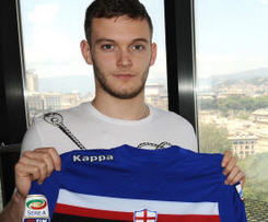 Manchester United youngster Michele Fornasier joins Sampdoria.