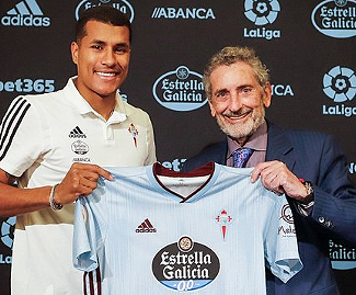 Celta Vigo have signed defender Jeison Murillo from Sampdoria on loan until the end of the season.