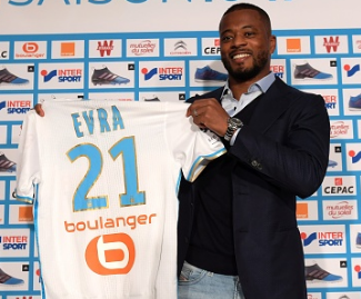 Patrice Evra has joined Marseille on a free transfer from Juventus on an 18-month contract, the Ligue 1 club announced.