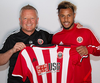 Premier League newcomers Sheffield United have signed French striker Lys Mousset from Bournemouth for a club record £10m.
