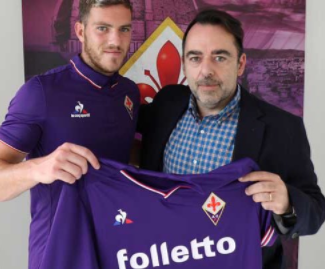 Fiorentina have completed the signing of Jordan Veretout from Aston Villa after he decided against a permanent switch to St Etienne.