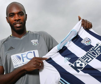 Defender Allan Nyom has completed a permanent transfer from Watford to West Bromwich for an undisclosed fee.