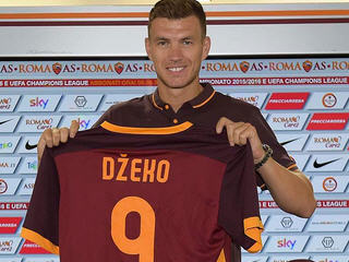 Manchester City striker Edin Dzeko has joined AS Roma on a season-long loan.