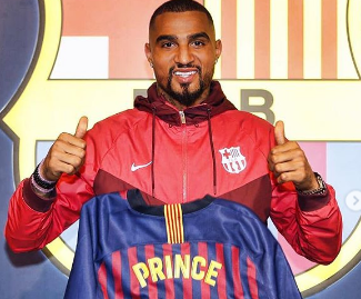 Barcelona have confirmed the signing of former Tottenham midfielder Kevin-Prince Boateng on a loan deal until the end of the season.