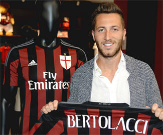 Andrea Bertolacci joins AC Milan from Roma on four-year deal.