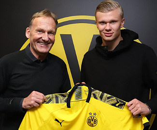 Borussia Dortmund have signed highly rated striker Erling Braut Haaland from Red Bull Salzburg after meeting his 20m euro buyout clause.