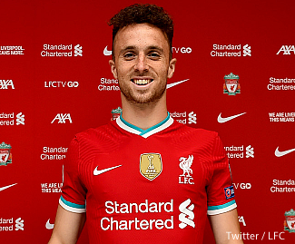 Liverpool have completed the signing of Portugal international Diogo Jota from Wolverhampton on a long-term contract.