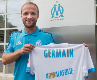 Forward Valere Germain has joined Marseille from Monaco on a four-year deal, following in the footsteps of his father.