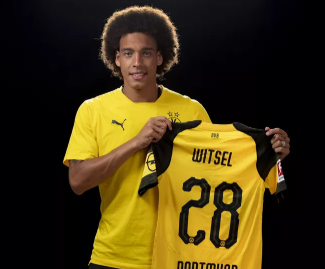 Borussia Dortmund have completed the signing of Belgium midfielder Axel Witsel from Chinese club Tianjin Quanjian.