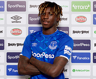 Everton have completed the signing of Moise Kean from Juventus for an initial £29m.