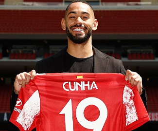 Atletico Madrid have signed Matheus Cunha from Hertha Berlin, with the Brazilian forward signing a five-year contract.
