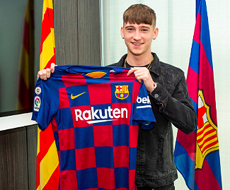 Barcelona convinced wonderkid Louie Barry to sign for them despite Paris Saint-Germain dangling £2.7MILLION at the 16-year-old.