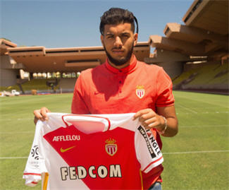 AS Monaco have completed the signing of midfielder Fares Bahlouli from Lyon on a five-year deal.