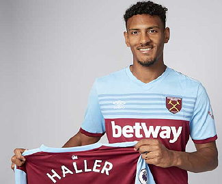 West Ham sign striker Sebastien Haller from Eintracht Frankfurt for club-record £45m fee.