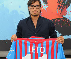 Catania have confirmed they have signed Argentine striker Sebastian Leto, who had been a free agent since January after playing for Panathinaikos.