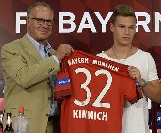 Bayern Munich have announced the signing of Joshua Kimmich from Stuttgart for a fee of €8.5 million.