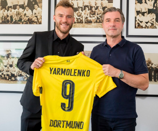 Bundesliga giants Borussia Dortmund have signed €25m-rated Ukraine international Andriy Yarmolenko as a replacement for new Barcelona signing Ousmane Dembele.