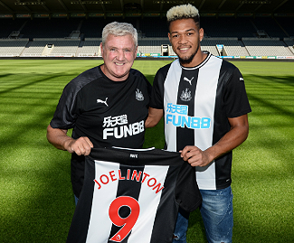 Newcastle United have signed striker Joelinton from Hoffenheim for a club record £40m fee on a six-year deal.