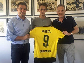 Borussia Dortmund have signed Manchester United midfielder Adnan Januzaj on a season-long loan.