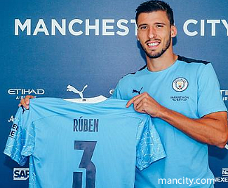 Manchester City have signed 23-year-old defender Ruben Dias from Benfica on a six-year deal for around £65m.