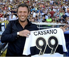 Parma have signed Antonio Cassano from Inter Milan on a reported three-year contract.