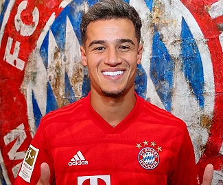 Philippe Coutinho joins Bayern Munich from Barcelona on loan with €120m option to buy.