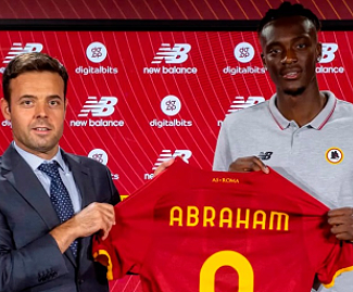 Tammy Abraham has joined Roma from Chelsea on a five-year contract.