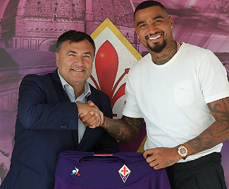 Fiorentina have confirmed the signing of Kevin-Prince Boateng from Sassuolo.