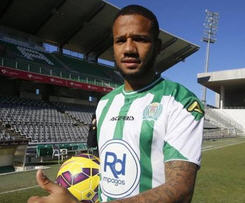 Benfica right winger Bebe, 24, has joined La Liga side Cordoba CF for the remainder of the season.