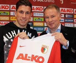 Pierre-Emile Hojbjerg joined Augsburg on loan from Bayern Munich.