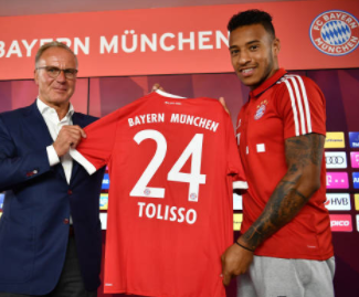 Bayern Munich have secured the services of French international midfielder Corentin Tolisso on a five-year deal from Ligue 1 outfit Lyon.
