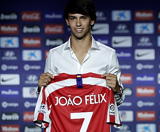 Atlético Madrid have signed 19-year-old striker João Felix from Benfica for €126m (£112.9m), making him the fourth most expensive player of all time.