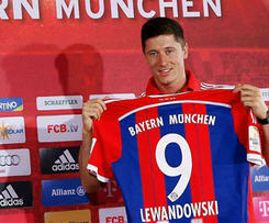 Robert Lewandowski has signed a five-year deal with European champions Bayern Munich, the club have confirmed.