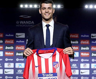 Alvaro Morata has joined Spanish club Atletico Madrid on loan until the end of the 2019-20 season.