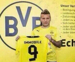 Borussia Dortmund sign Ciro Immobile from Torino on five-year contract.