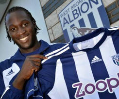 West Brom have signed Chelsea striker Romelu Lukaku on a season-long loan, the West Midlands club have announced.